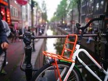 Bicicleta em Amsterdão foto de stock royalty free