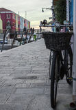 Bicicleta em Burano Fotografia de Stock Royalty Free
