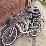 Bicicleta em Copenhaga Fotografia de Stock Royalty Free