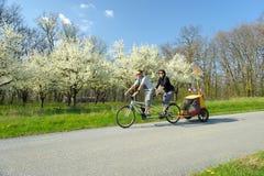 Bicicleta em tandem dois Imagens de Stock