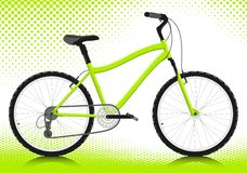Bicicleta em um fundo branco. Vetor. Fotos de Stock