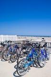 Bicicleta en la playa Imágenes de archivo libres de regalías