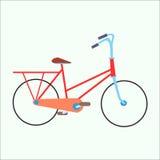 Bicicleta estática urbana femenina Foto de archivo libre de regalías