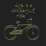 Bicicleta estilizada, ejemplo del vector libre illustration