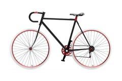 Bicicleta fija de la ciudad del engranaje Fotografía de archivo
