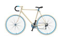 Bicicleta fija de la ciudad del engranaje Imagen de archivo libre de regalías