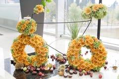 Bicicleta floral foto de archivo libre de regalías