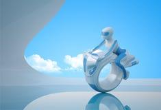 Bicicleta futura 1 ilustração stock