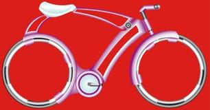 Bicicleta futurista. Imagen de archivo