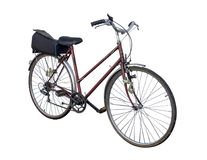 Bicicleta isolada no fundo branco Foto de Stock Royalty Free