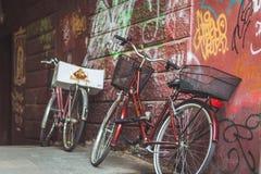 Bicicleta Ljubljiana da parede imagem de stock royalty free