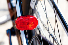 Bicicleta, luzes claras do diodo emissor de luz da cauda Foto de Stock Royalty Free