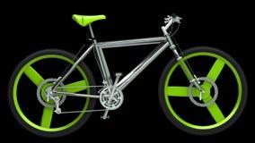 Bicicleta moderna do esporte isolada no preto Fotografia de Stock