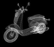 Bicicleta motorizada retro do vintage modelo 3d ilustração stock