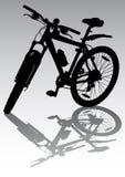 Bicicleta no estacionamento ilustração do vetor