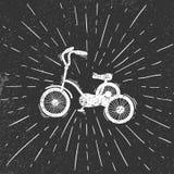 Bicicleta no estilo do grunge Foto de Stock Royalty Free