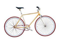 Bicicleta no fundo branco Fotos de Stock Royalty Free