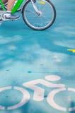 Bicicleta no traço Foto de Stock