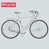 Bicicleta no vetor Fotografia de Stock