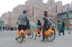 Bicicleta pública de Youbike que comparte el servicio Taipei Taiwán Imágenes de archivo libres de regalías