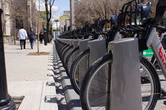 Bicicleta pública em Montreal. Foto de Stock