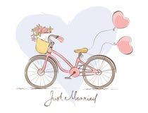 Bicicleta para la novia Imagen de archivo