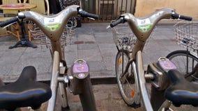 Bicicleta para o aluguel fotografia de stock
