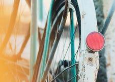 Bicicleta, parte, linterna posterior del reflector Fotografía de archivo