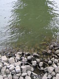 A bicicleta permanece em um rio Fotografia de Stock Royalty Free
