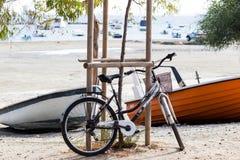 Bicicleta perto da praia Imagem de Stock