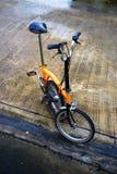 Bicicleta plegable Fotografía de archivo libre de regalías