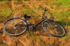 Bicicleta preta imagens de stock