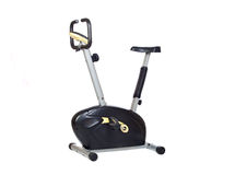 Bicicleta preta e amarela Imagem de Stock Royalty Free