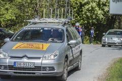 Bicicleta que compete, competição automóvel (carro do serviço) Foto de Stock