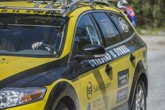 Bicicleta que compete, competição automóvel (carro do serviço) Fotografia de Stock Royalty Free