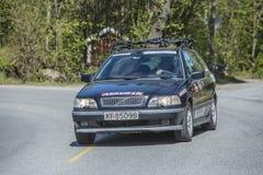 Bicicleta que compete, competição automóvel (carro do serviço) Imagens de Stock
