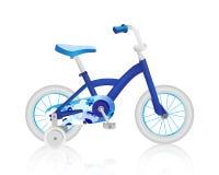 Bicicleta realística do bebê azul Vetor Imagem de Stock Royalty Free