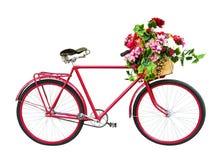 Bicicleta retra aislada en blanco Fotografía de archivo