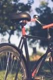Bicicleta retro com folha de prova do vintage Fotos de Stock Royalty Free