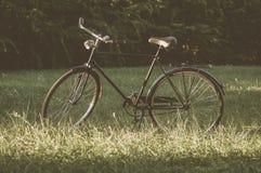 Bicicleta retro com folha de prova do vintage Imagens de Stock