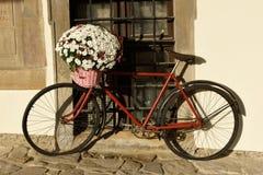 Bicicleta retro, decoração da rua Imagem de Stock Royalty Free