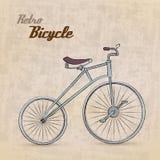 Bicicleta retro do vintage ilustração stock