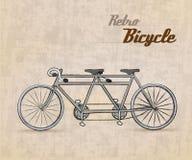 Bicicleta retro do vintage ilustração royalty free