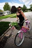 Bicicleta rosada Foto de archivo