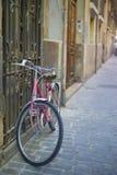 Bicicleta rosada Fotografía de archivo libre de regalías