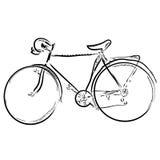 Bicicleta simples do esboço da tração da mão Fotos de Stock Royalty Free