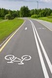 Bicicleta sinuosa gris Imagen de archivo libre de regalías