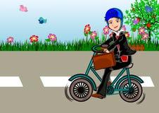 Bicicleta a trabalhar fotografia de stock royalty free