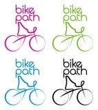 Bicicleta-trajeto ilustração stock