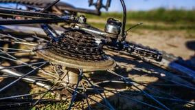 Bicicleta usada fotografia de stock